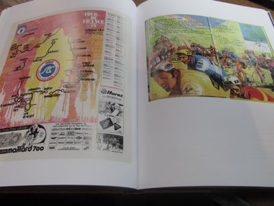 Even the Ladybird book of the cycling, Edmund Hunter's 'The Bicycle', provides a map of the Tour (right), here the 1974 race