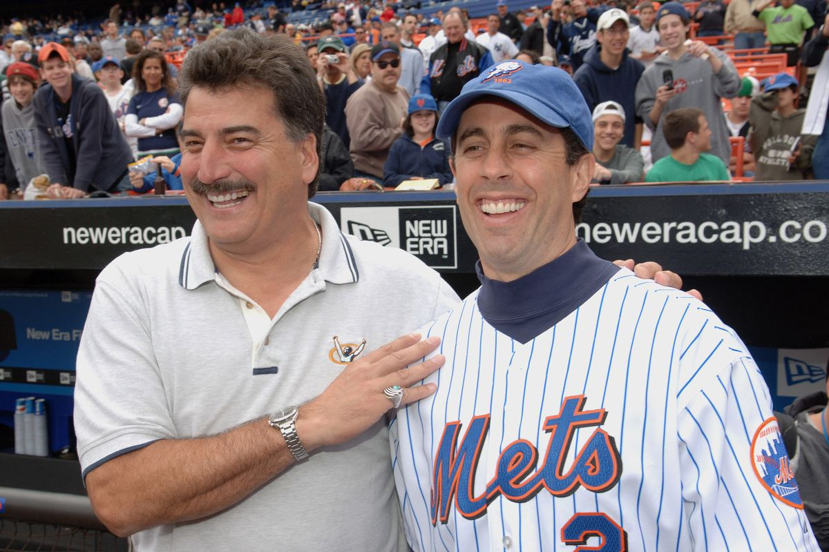 """Jerry Seinfeld Throws The First Pitch at The Mets/Yankees Subway Series Game to Promote the """"Seinfeld"""" Season 4 DVD Release"""