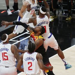during the NBA playoffs in Salt Lake City on Thursday, June 10, 2021. The Jazz won 117-111.