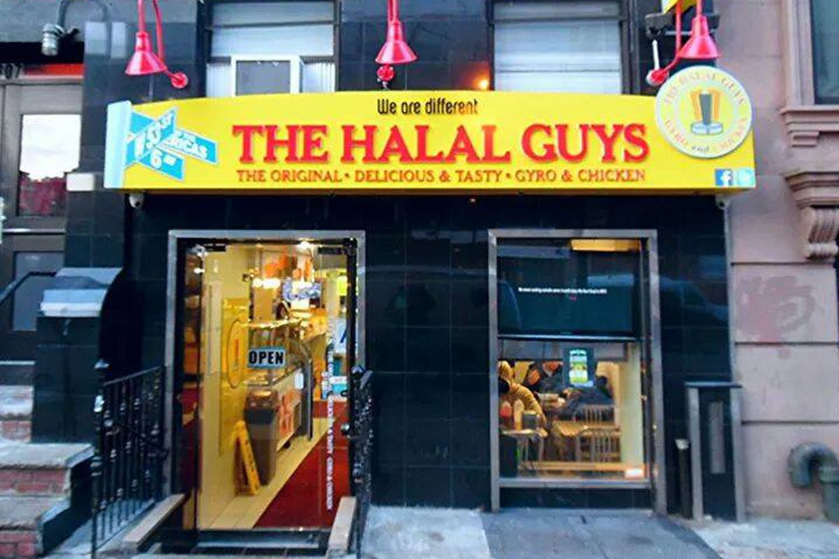 The East Village location of The Halal Guys in New York City.
