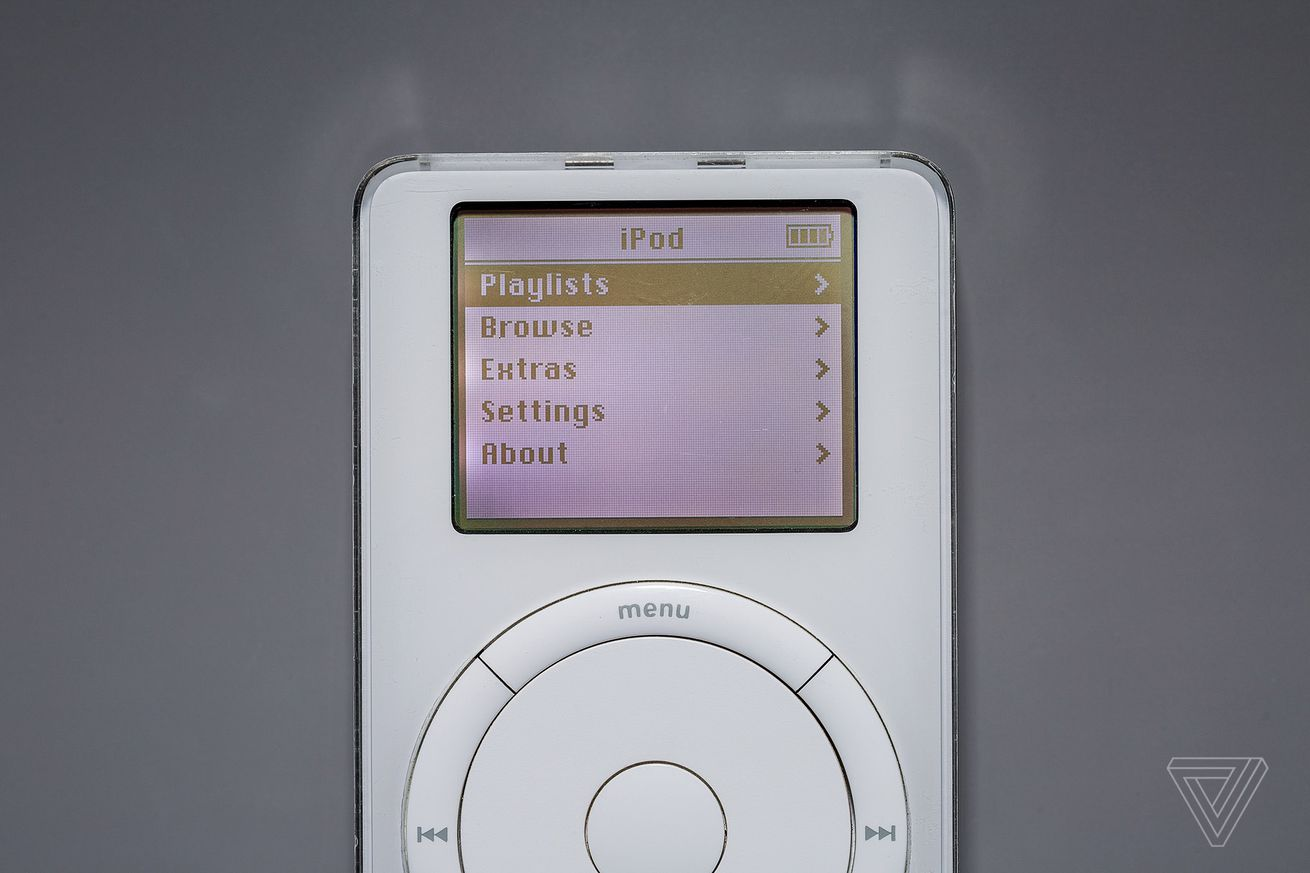 my original ipod is a time capsule from 2002