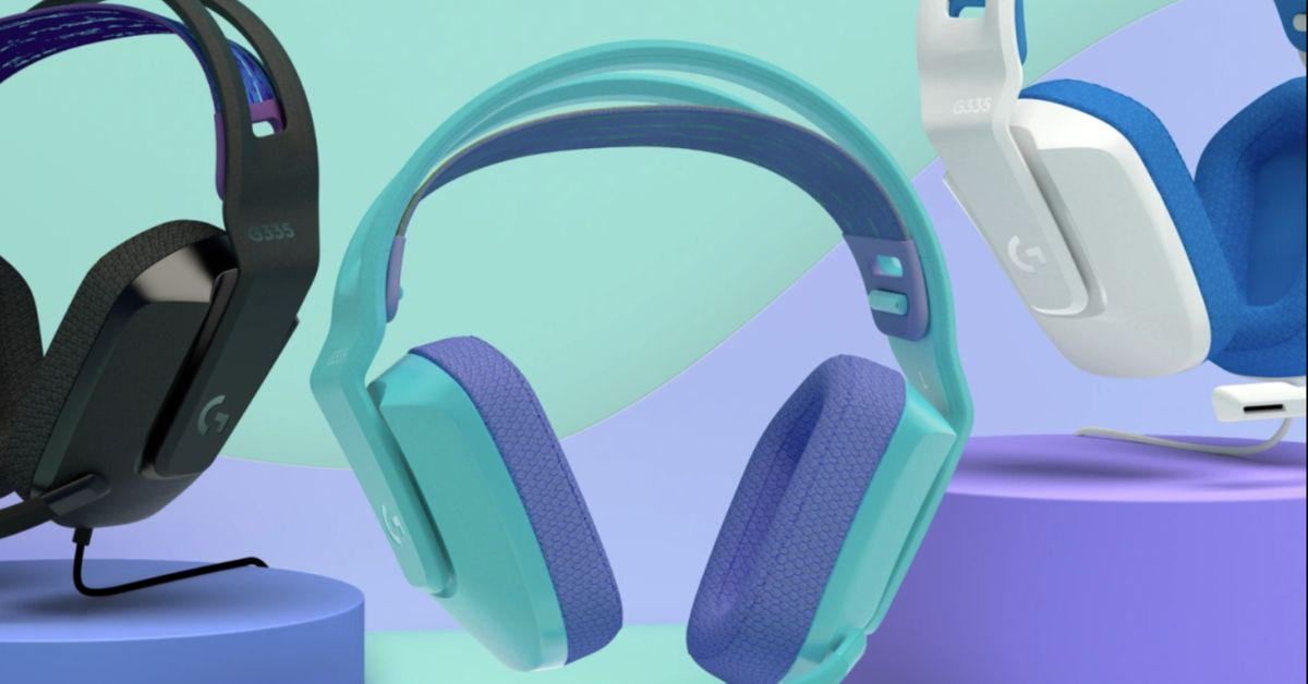Logitech's $70 G335 is a colorful wired gaming headset