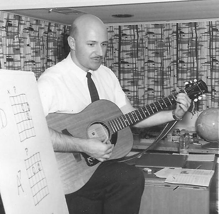 <small><strong> Bob Gand taught himself to play guitar, and then started teaching others to make music. In 1963, he opened Village Music Store and Village School of Folk Music in Deerfield.  |  Photo Provided</strong></small>