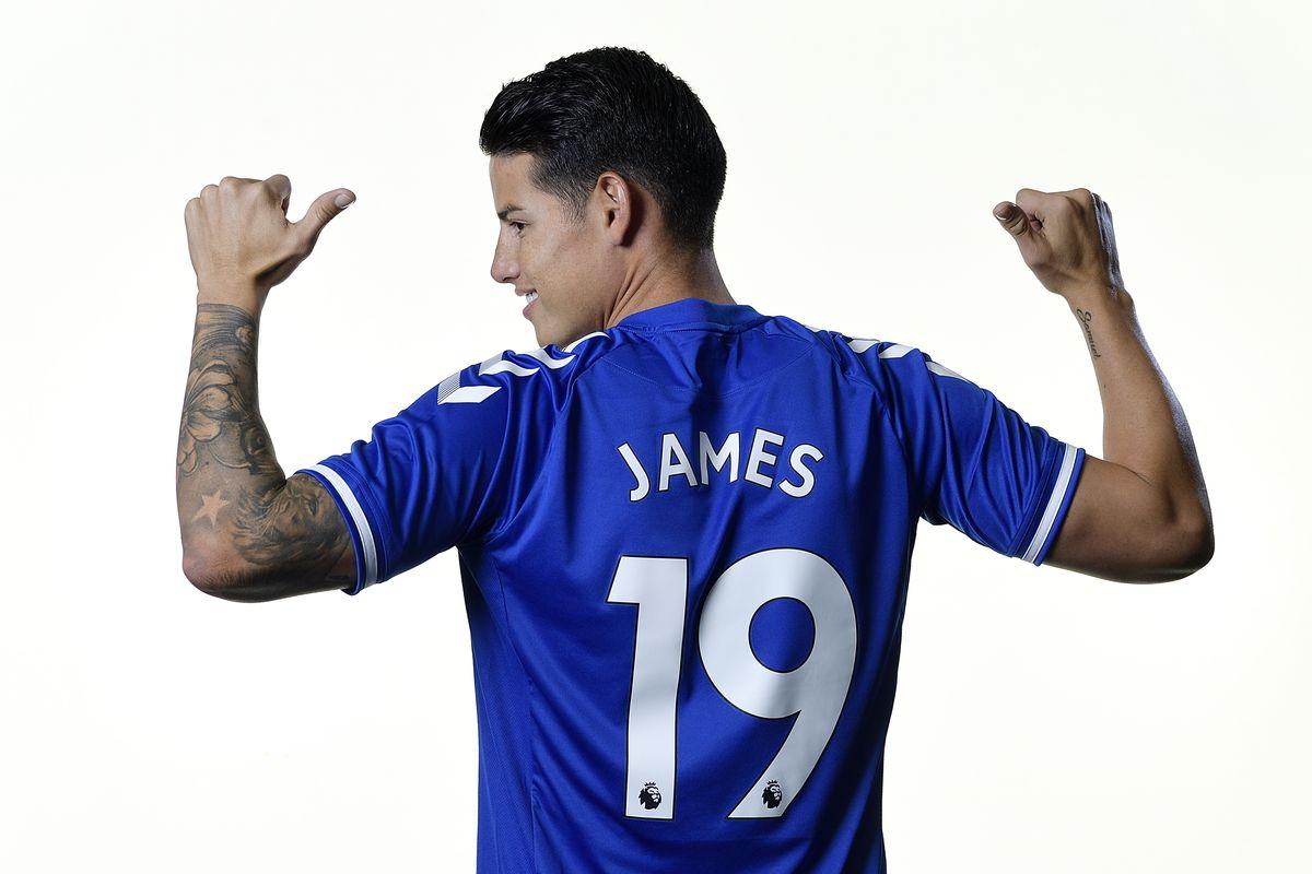 Everton Unveil New Signing James Rodriguez