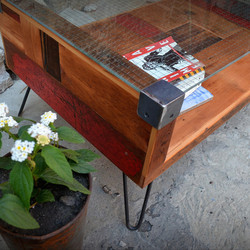 Recycled Brooklyn patchwork glass coffee table, $625