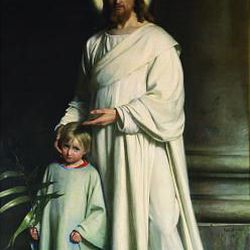"""Carl Bloch's """"Christ and the Young Child"""" was painted in 1873."""
