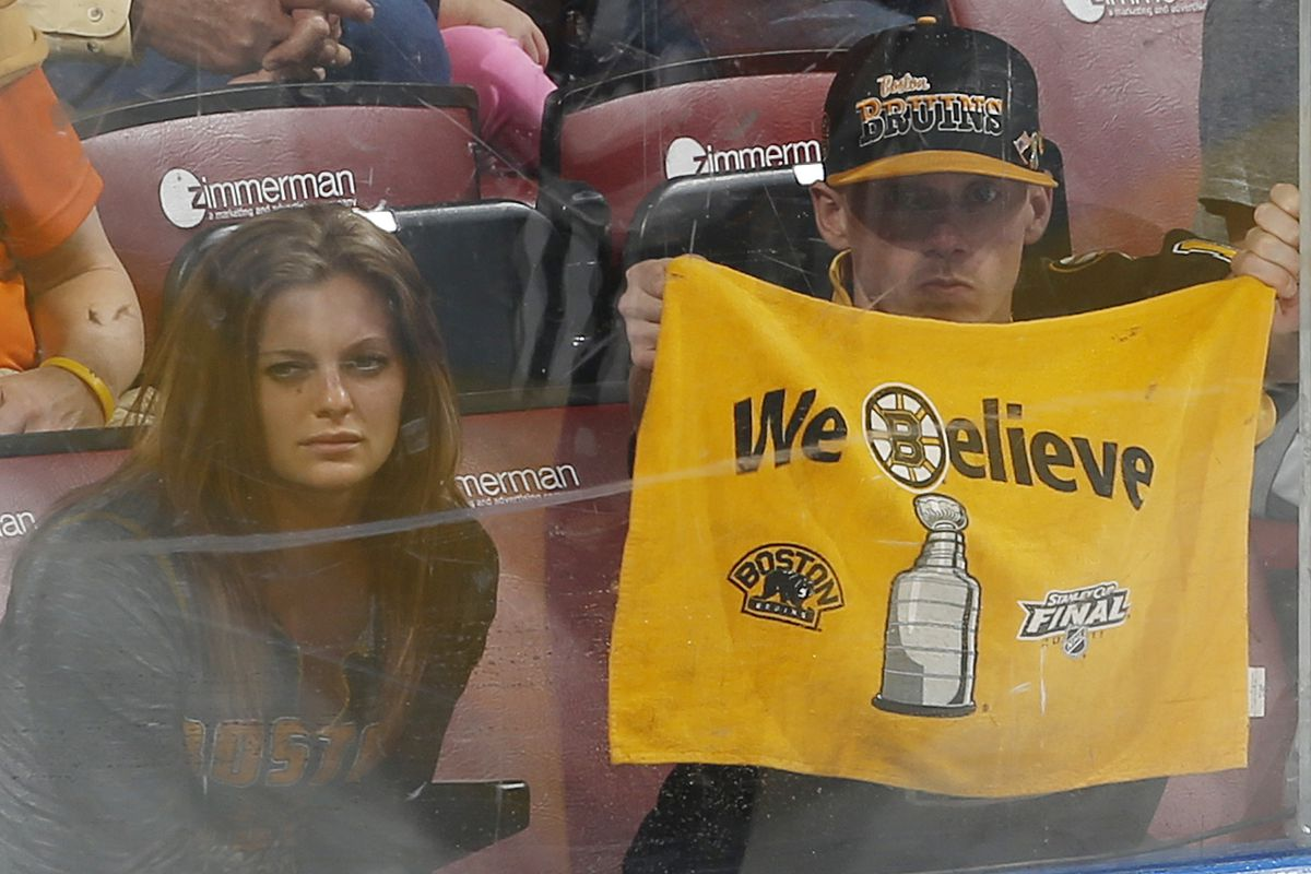 There were Bruins fans in the stands last evening