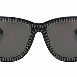 """<b>Alexander Wang x Linda Farrow</b> zipper motif sunglasses, <a href=""""http://www.gargyle.com/alexander-wang-x-linda-farrow-aw-3-c1.html"""">$389</a> at Gargyle"""