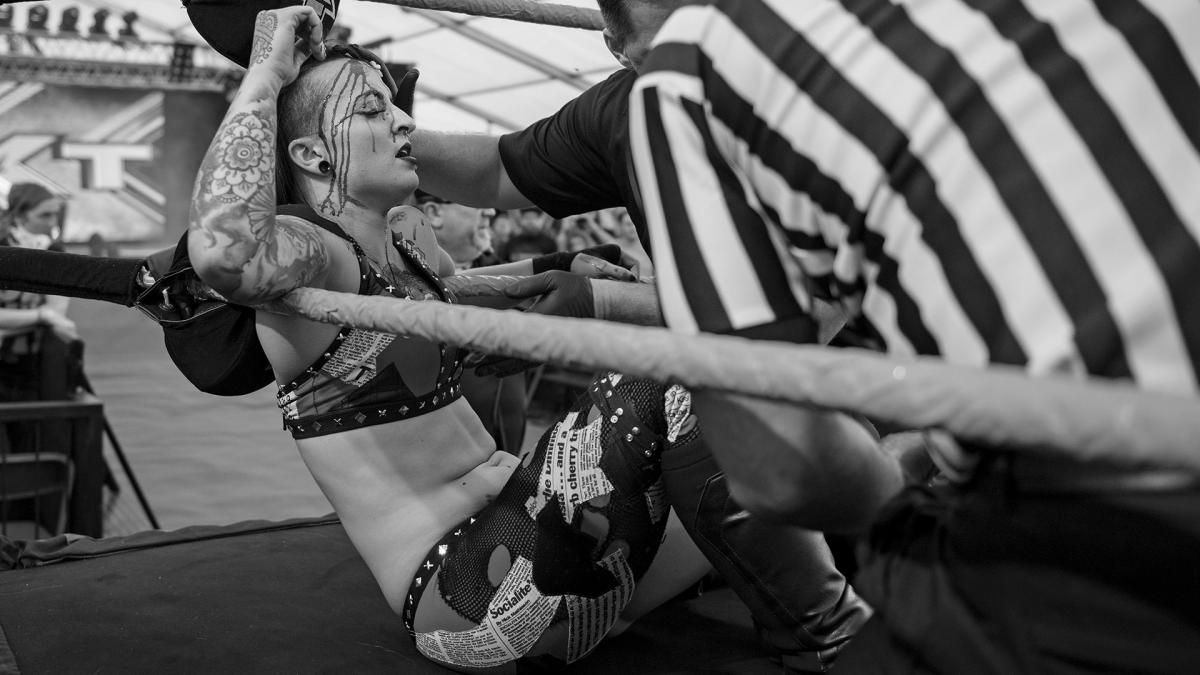 Ruby Riot needed five stitches after Asuka busted her open