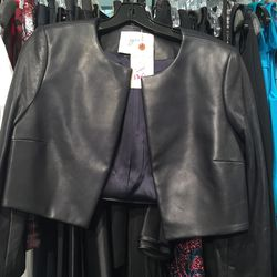 Fall/winter 2013 cropped leather jacket, $360 (was $2,450)
