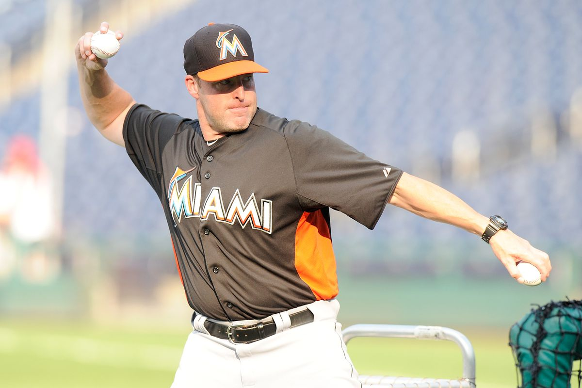 Mike Redmond, Marlins manager, likes to throw batting practice