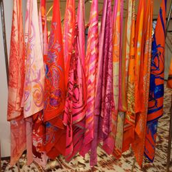 Hermes Scarves at Hermes Festival des Martiers, Photography by Jeff Schear