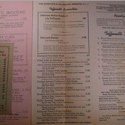 "Toffenetti menu via <a href=""http://www.bonanza.com/listings/Vintage-menu-TOFFENETTI-RESTAURANT-NYC-23rd-Broadway-c1945-1950/87849535"">Bonanza</a>."