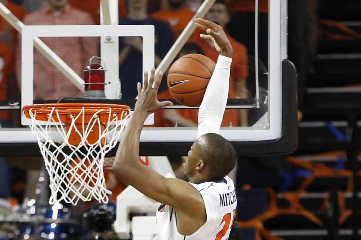 Akil Mitchell struggled with this shot, but he hasn't struggled much during his Virginia career