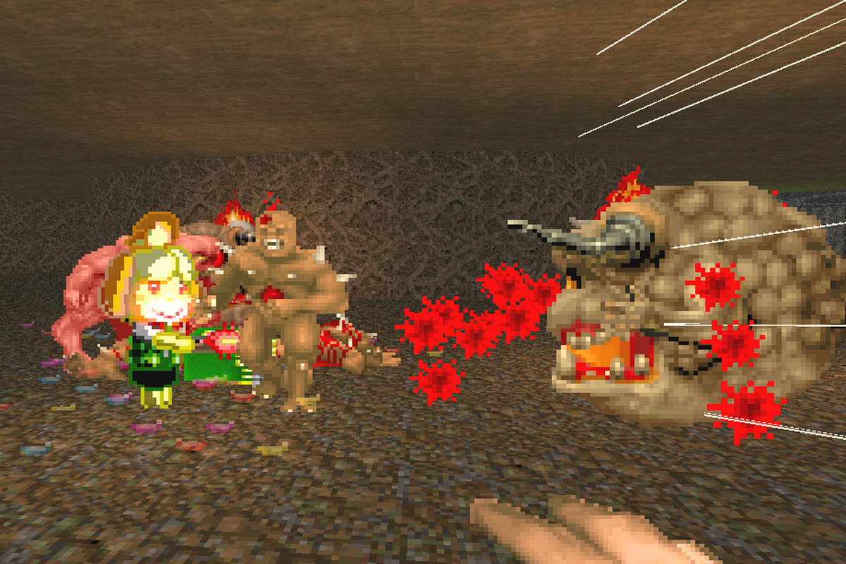 Doom 2 - Isabelle lends a hand against the enemies of Hell in this mod