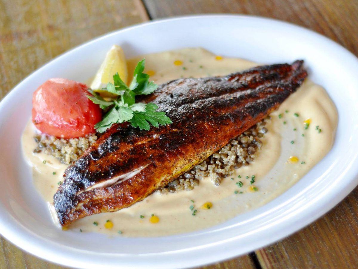 Salty Sow's blackened redfish