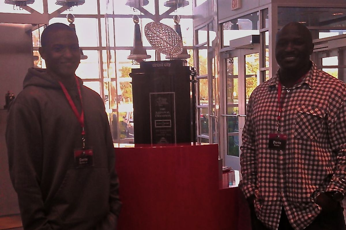 New Buckeye Dante Booker will look to help bring home another of these to Columbus.