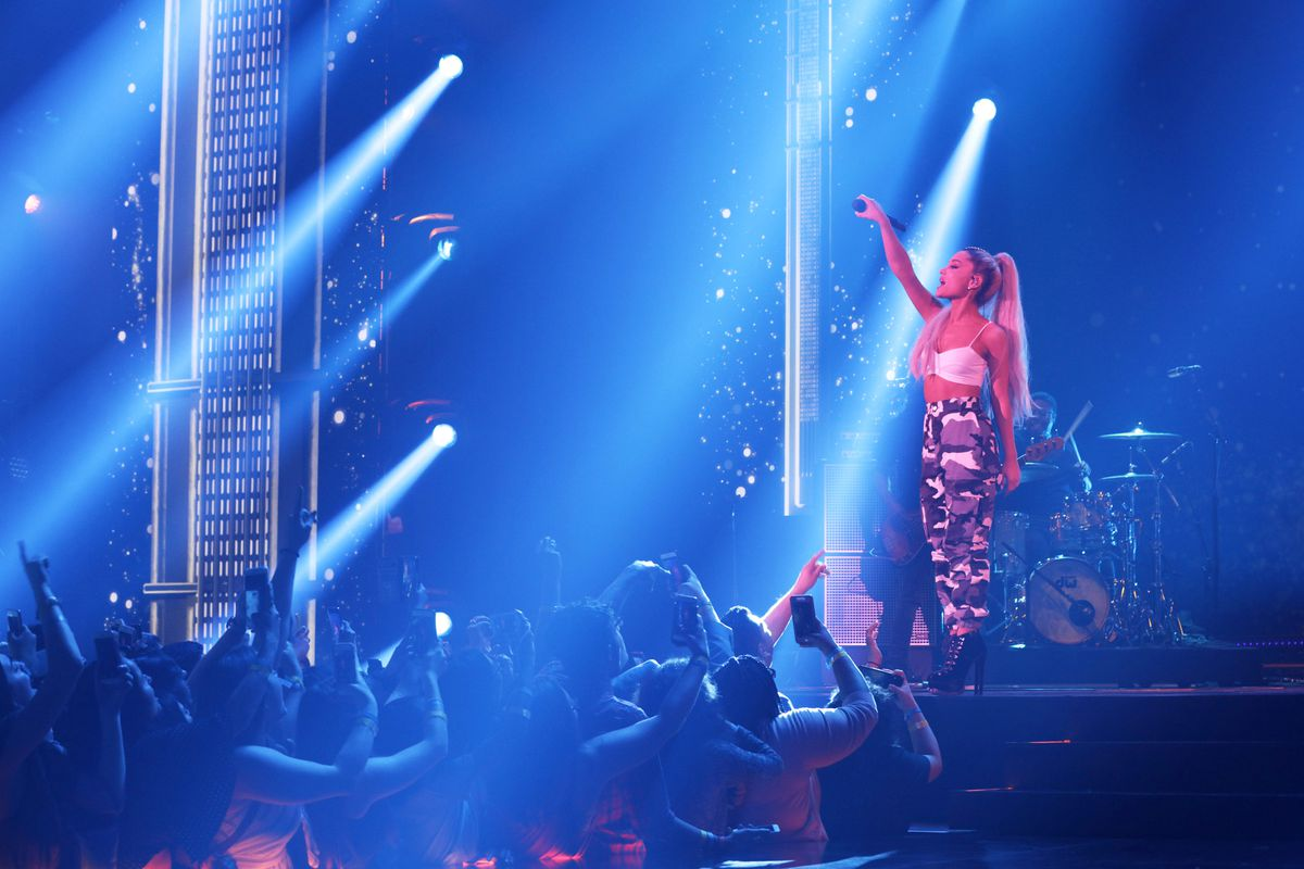 Singer Ariana Grande onstage