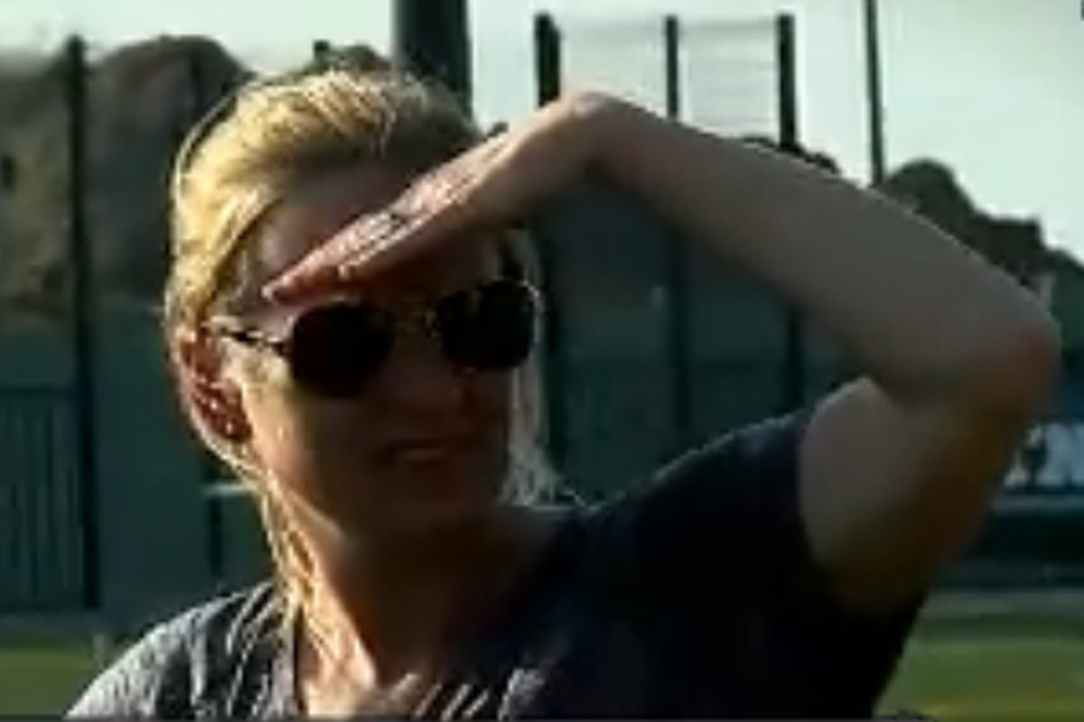Head coach Cathy Reese looks on as Maryland women's lacrosse advances to the Big Ten Tournament final
