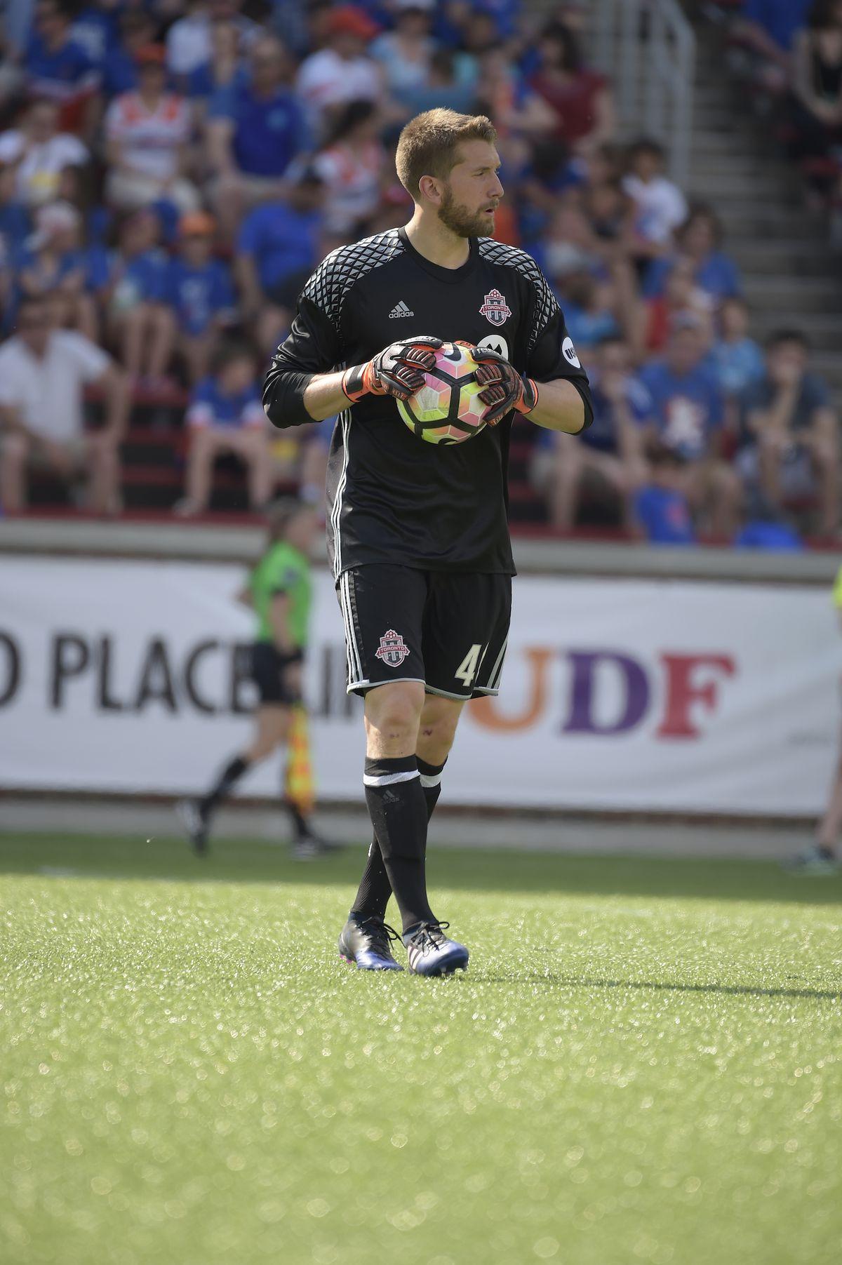 USL Photo - TFC II goalkeeper Mark Pais looks to restart play in Cincinnati