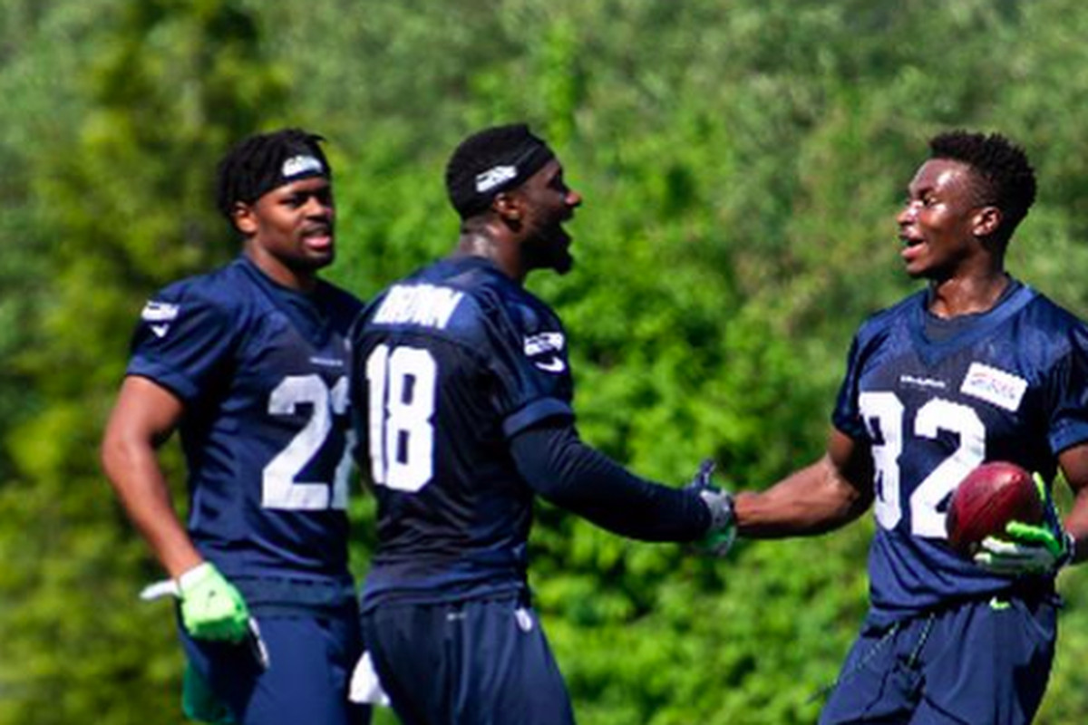 big sale 4ed4d c519e Snapshot: Seahawks picture with all 12 wide receivers in ...