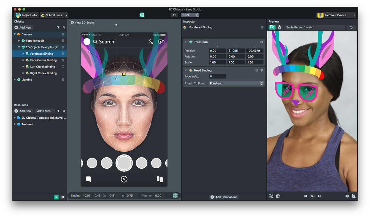You can now build your own face filter for snapchat the verge the face filter templates range in complexity from a two dimensional image mapped onto the head to more intricate face painting jobs solutioingenieria Choice Image