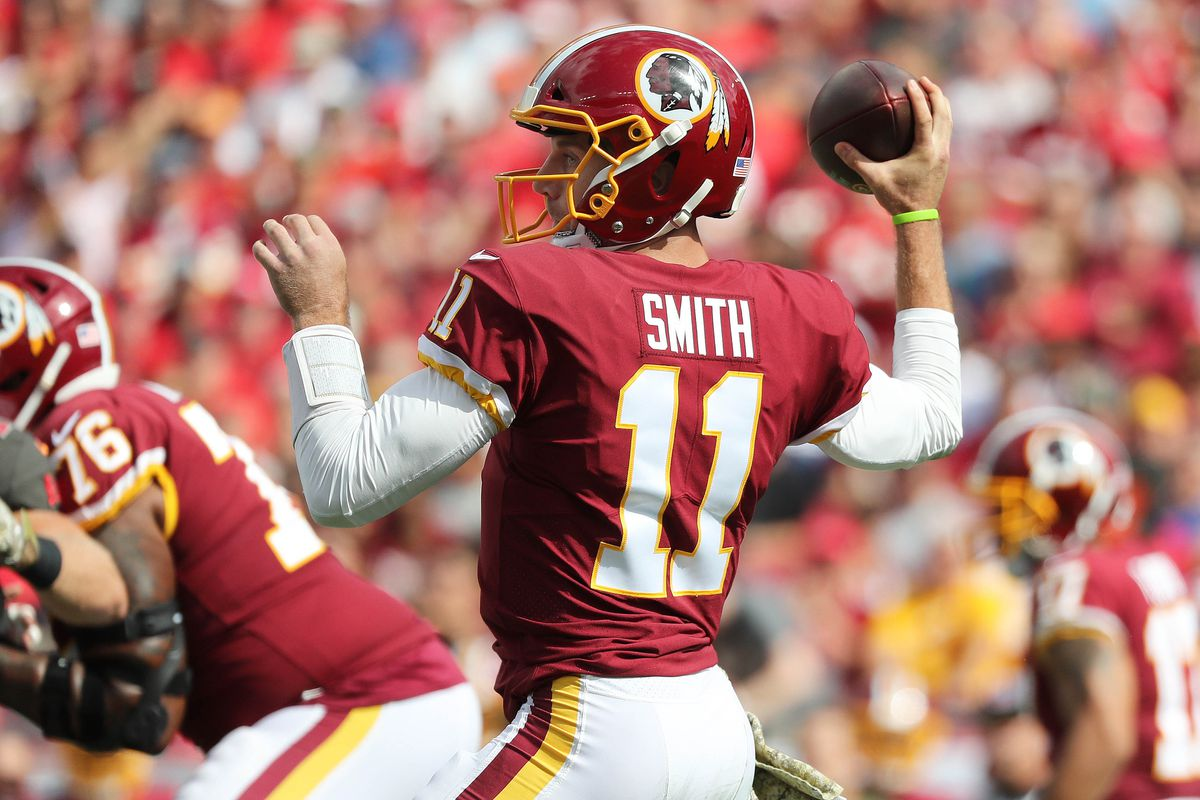 separation shoes 81bb7 a5b28 Former Chiefs QB Alex Smith placed on Redskins' PUP list ...