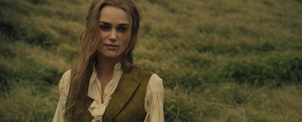 elizabeth in a sensible waistcoat blouse combo
