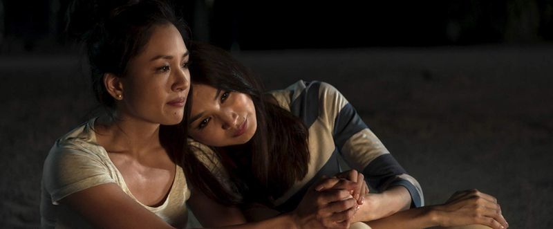 Constance Wu and Gemma Chan in Crazy Rich Asians