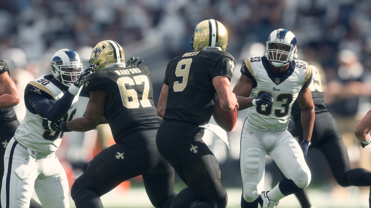 Madden NFL 18 - Drew Brees and the New Orleans Saints versus the Los Angeles Rams