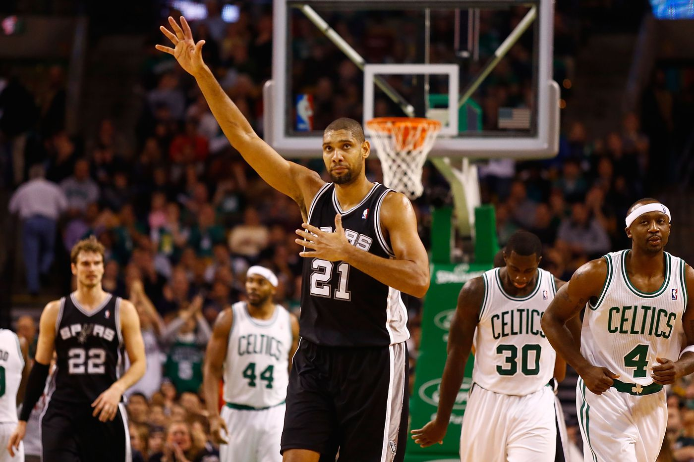 Over time Tim Duncan earned our love and respect CelticsBlog