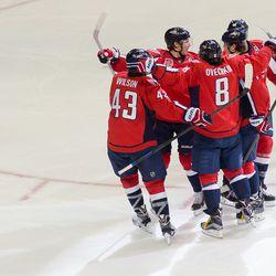 Capitals Celebrate Carlson Goal