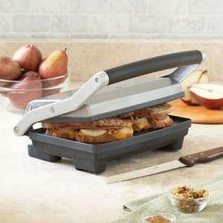 """Breville Panini Duo Press ($69.95), <a href=""""http://www.surlatable.com/product/PRO-648584/Breville-Panini-Duo-Press"""" rel=""""nofollow"""">Sur la Table</a>"""
