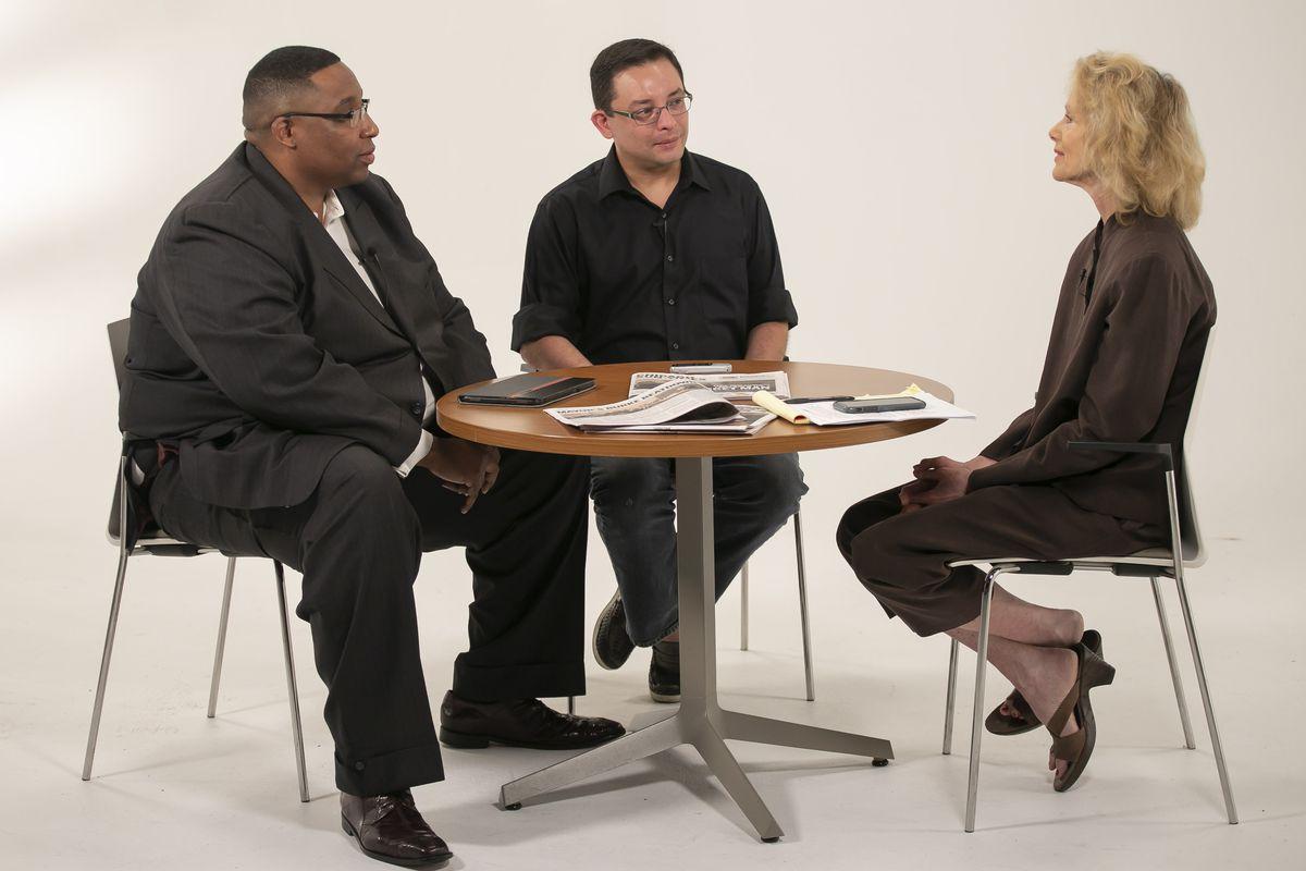 Ald. Jason Ervin, left, and Ald. Ray Lopez were interviewed by Fran Spielman Friday, May 31, 2019. | Rich Hein/Sun-Times