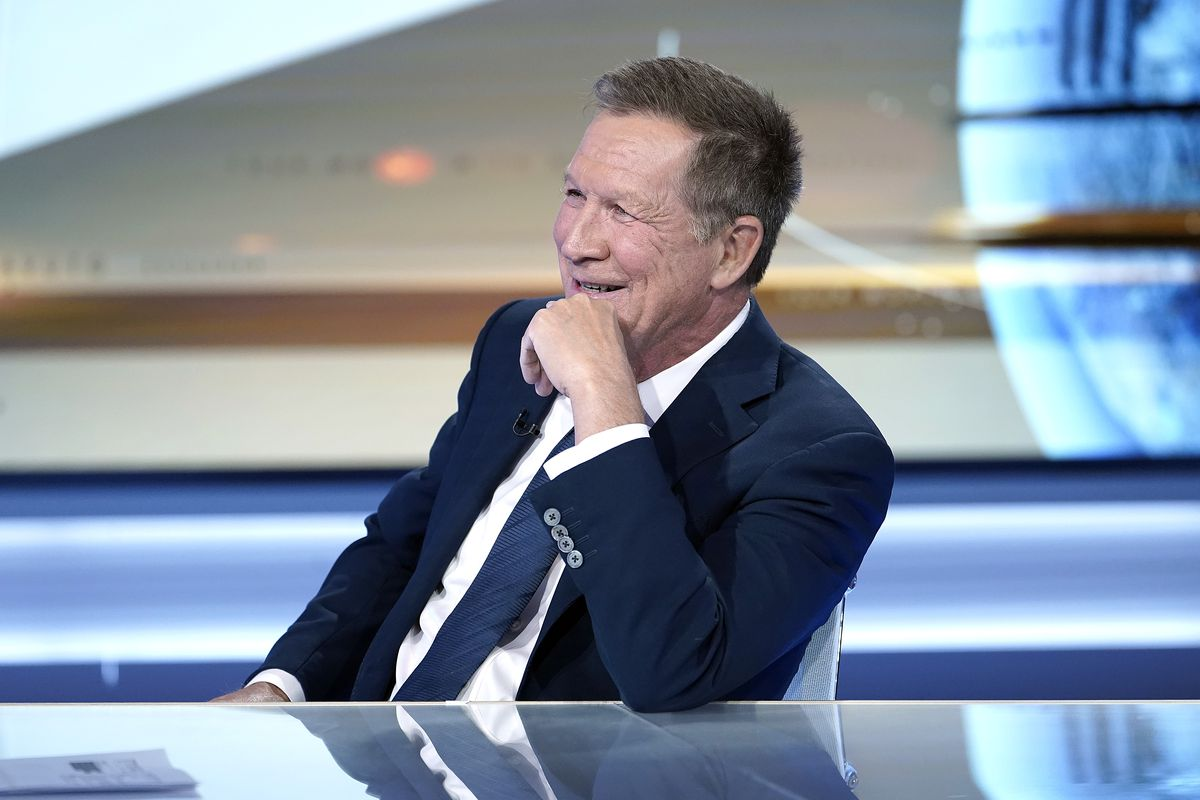 """Former Ohio Governor John Kasich Visits """"Your World With Neil Cavuto"""" on October 15, 2019."""