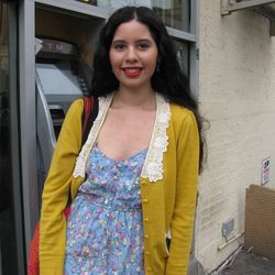 """Tatiana, 22, student: """"I've never shopped there, but based on what I've seen, I think their clothes are modest and for girls who want to dress professionally. I know this neighborhood is very artsy, but I think will fit in for those who live in Brooklyn,"""