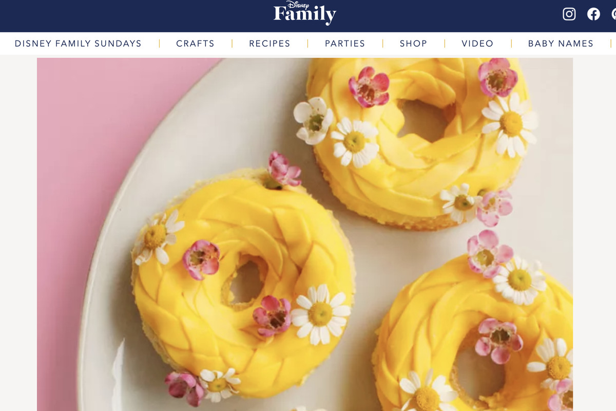 Disney has shared a new recipe to celebrate Mother's Day — this one centered around doughnuts.