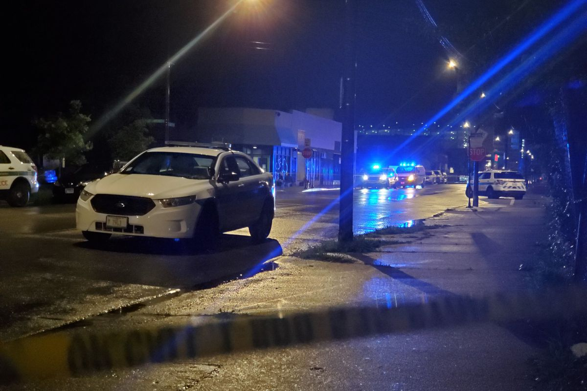 A man was killed, and a woman was wounded in a shooting in Woodlawn.