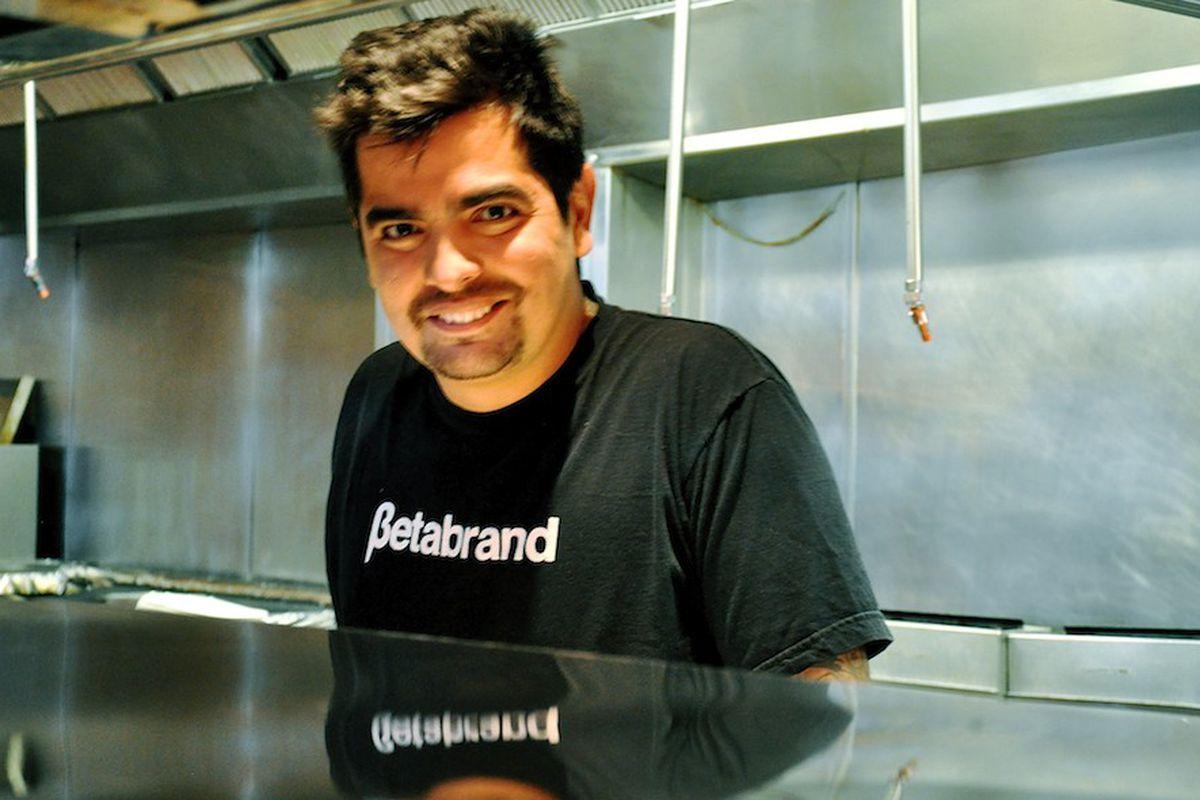 Sánchez inside the HOB kitchen.