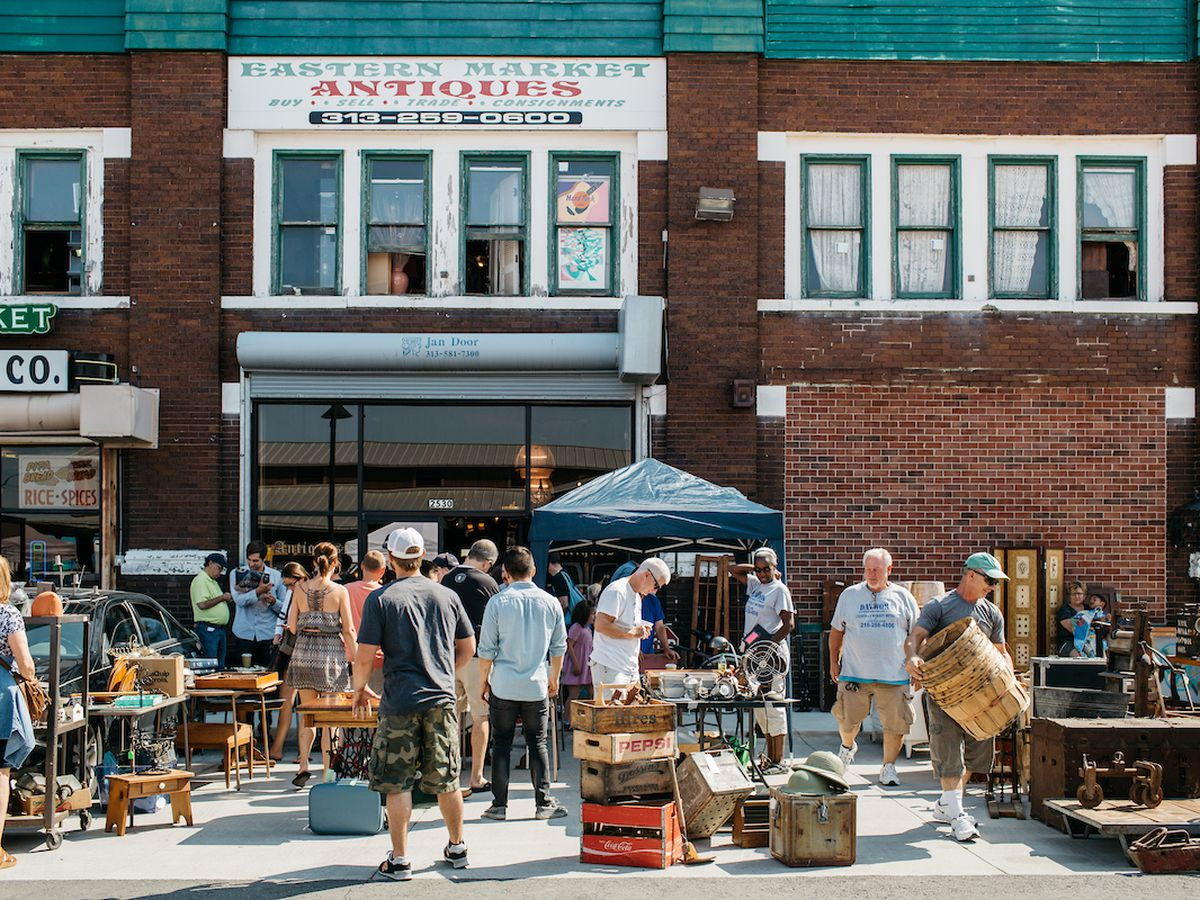 Eastern Market Antiques Michelle & Chris Gerard · Furniture Week - The Best Furniture And Antique Stores In Detroit, Mapped