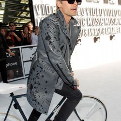 2010: In a spotted leather trench, at the MTV Music Awards in L.A.