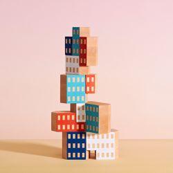 "Blockitecture wooden blocks, <a href=""http://store.dwell.com/blockitecture-wooden-blocks.html"">$25</a> at Dwell"