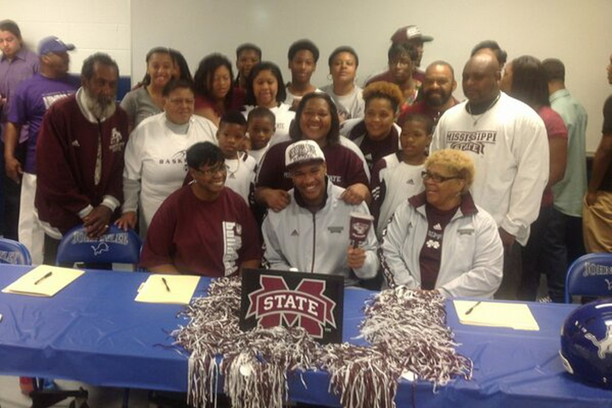 Ross and family all decked out in maroon and white