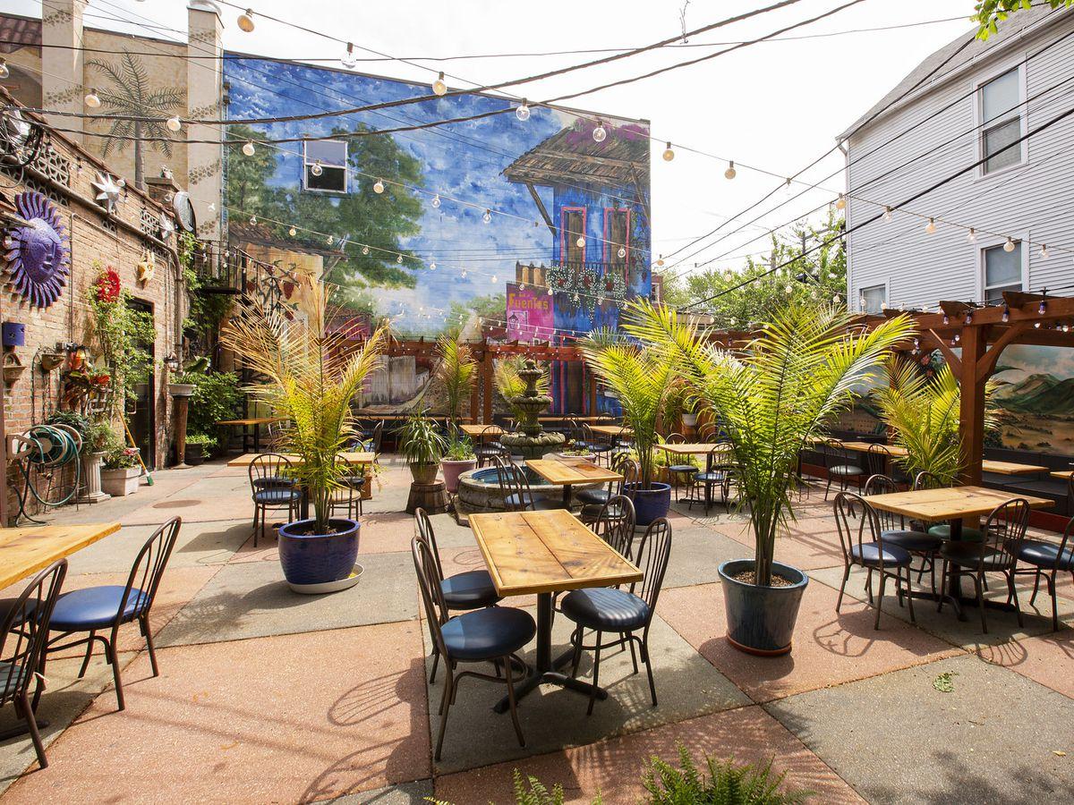 An outdoor patio.