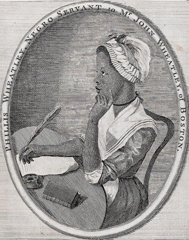 Illustration of Phyllis Wheatley