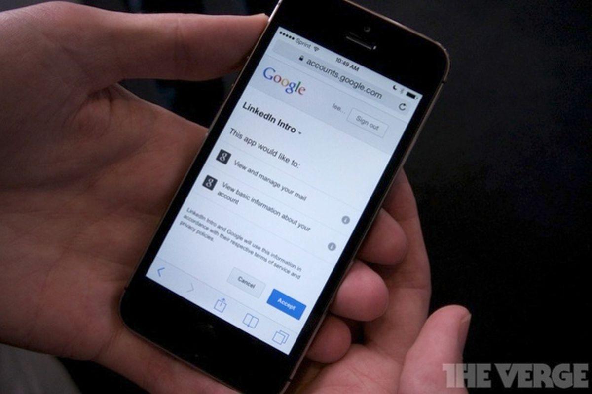 Linkedin intro google auth