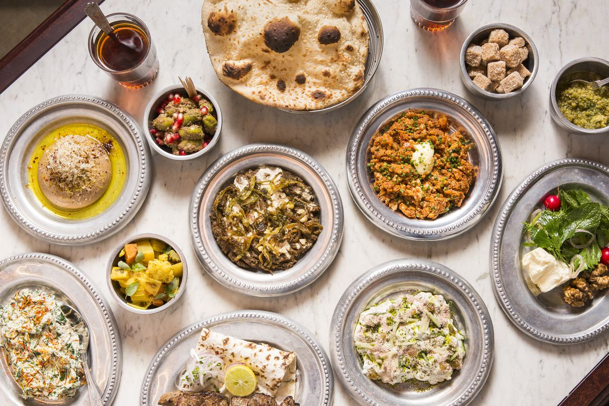 A selection of dishes at Berenjak, recently opened London restaurant in Soho and one of the hottest restaurants in London right now
