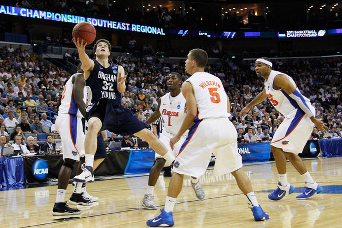 Jimmer Fredette to the Phoenix Suns? It could happen. (Photo by Kevin C. Cox/Getty Images)