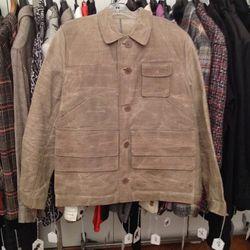 Men's waxy jacket, $240
