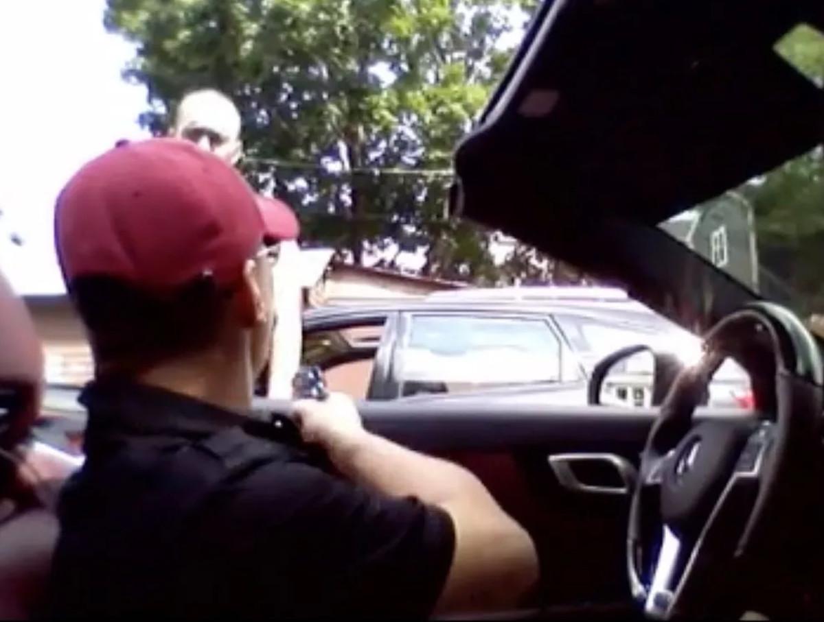 T.J. Jimenez just before he shoots Earl Casteel